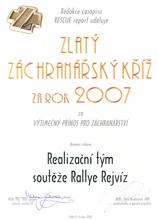 Zlatý záchranářský kříž 2007